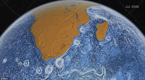 The 'Perpetual Ocean' model represents the currents that existed between 2006 and 2007