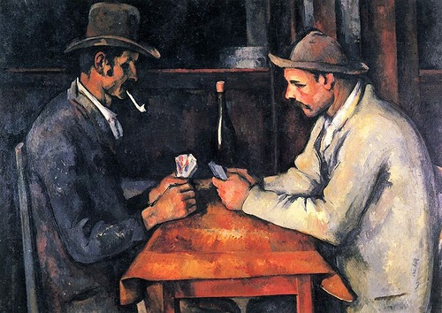 The most expensive paintings ever sold. The Card Players by French artist and Post-Impressionist painter Paul Cezanne
