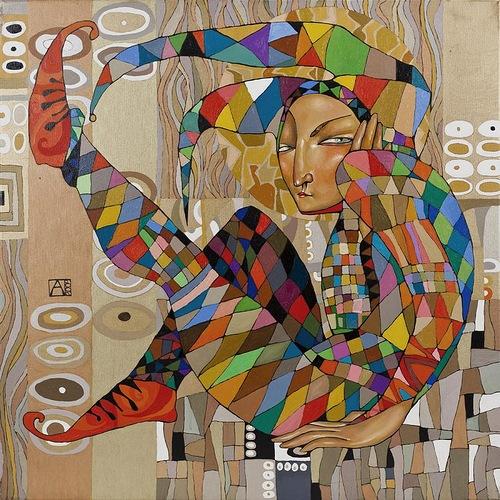 The Clown. Tender paintings by Akzhana Abdaliyeva