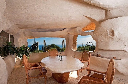 The Flintstones style house