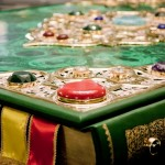 Encrusted with semiprecious stones and gold Al Quran Al karim
