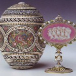The Mosaic egg is a jewelled enameled Easter egg made under the supervision of the Russian jeweller Peter Carl Faberge in 1914