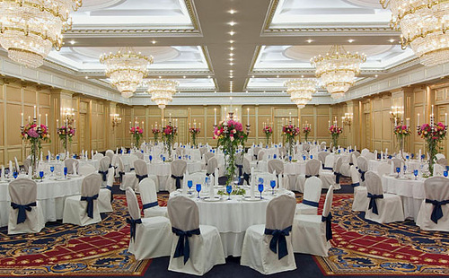 The Ritz-Carlton Hotel in Moscow, Russia. Restaurant of the hotel