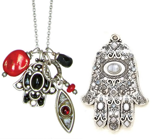 Hamsa pendant and wall decoration by Jewish artist and jewelry designer Michal Golan