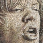 Michael Philip «Mick» Jagger. The Woven fabric Painting by Cuban artist Alexi Torres