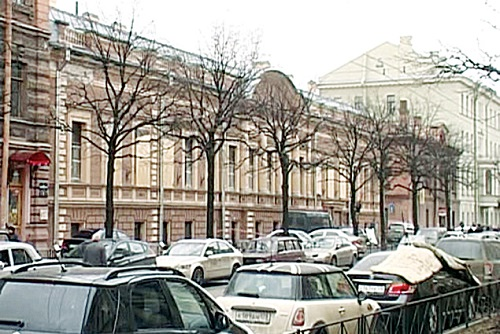 The building in St Petersburg, where the treasure hoard was found