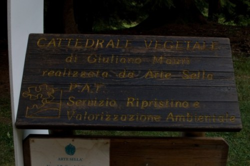 Giuliano Mauri's tree temple