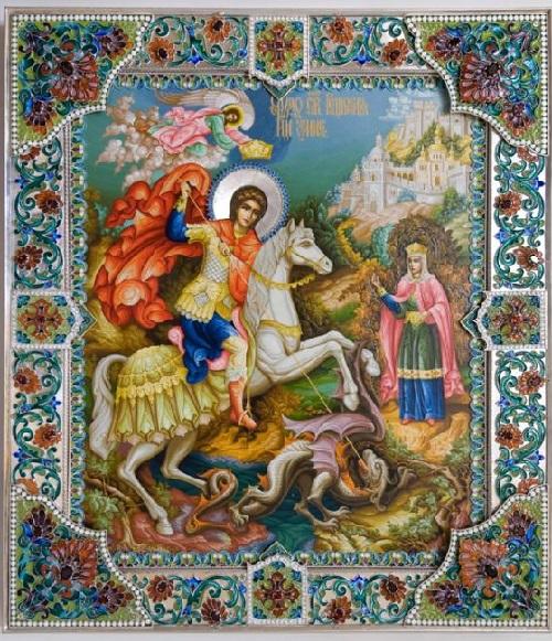 Enamel painting by Vyacheslav Abramov