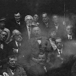The meeting of the Society for the Study of Supernormal Pictures. Sir Arthur Conan Doyle and his wife (Center, Left) (1922)