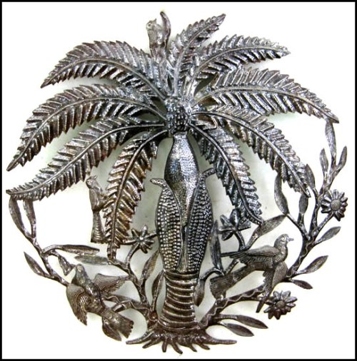 Beautiful tree of life - Haitian Metal Art