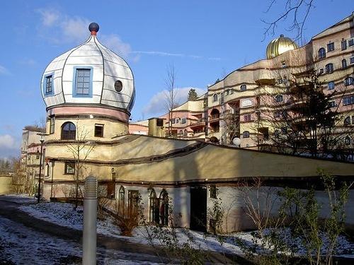 architecture by Friedensreich Hundertwasser