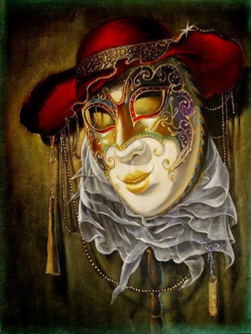 "From the ""Mask"" collection. Venetian Fantasy by Alex Levin"