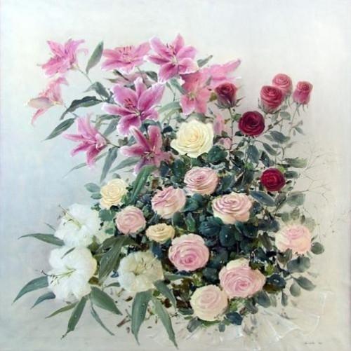 Vernissage. Painting by Russian artist Marina Zakharova