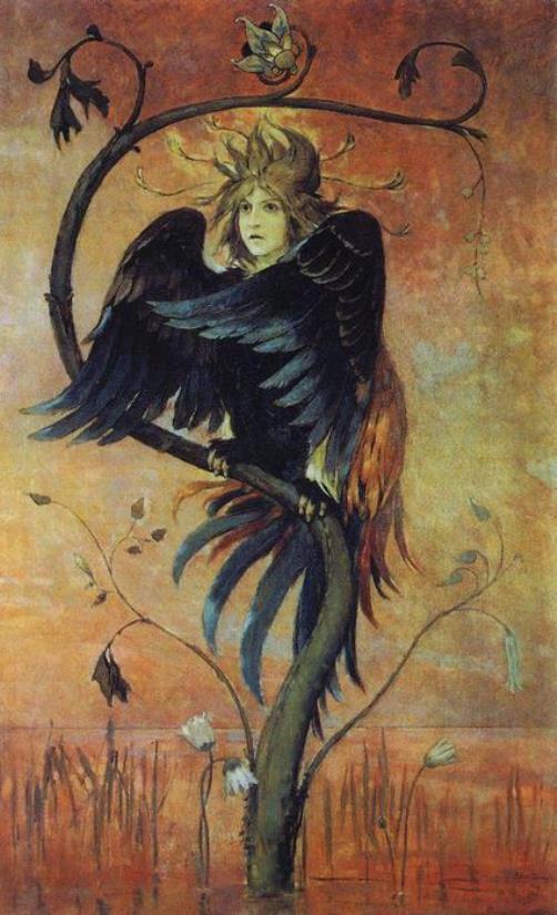 Viktor Vasnetsov. Humayun, prophetic bird. 1895. The Daghestan Museum of Fine Arts