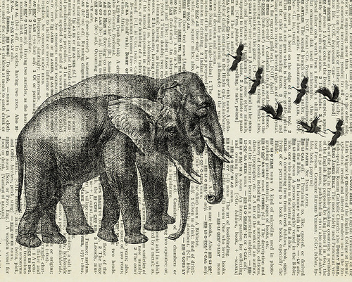 Vintage Drawings on pages by Jean Cody