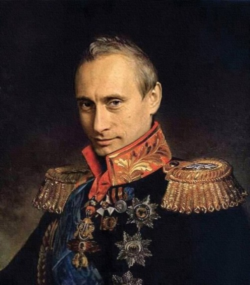 Classic Paintings of Modern Day Celebrities. Vladimir Putin, President of Russia