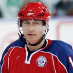 Ice hockey player Vladimir Putin
