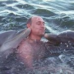 Swimming with dolphins Vladimir Putin