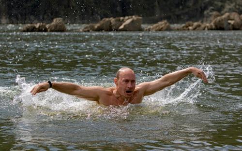 Swimming, Vladimir Putin