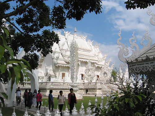 Visitors to the White temple