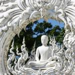 White temple Wat Rong Khun in Thailand