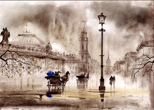 Watercolors by Gadzhievs - Sabir and Svetlana