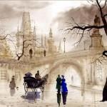 Vintage look of Watercolor paintings by Gadzhievs - Sabir and Svetlana