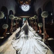Wedding dress of Victoria Swarovski. The 23-year-old Swarovski brand heir, Victoria Swarovski, chose the outfit created by designer Michael Sinko from Dubai