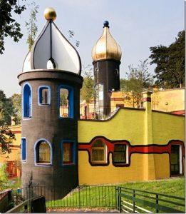 Unique architecture by Friedensreich Hundertwasser
