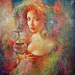 Night expectation. Surreal art by Ukrainian artist Valery Kot