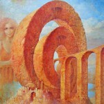 Bridges. Surreal art by Ukrainian artist Valery Kot