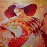 Clocks. Beautiful painting by Ukrainian artist Valery Kot