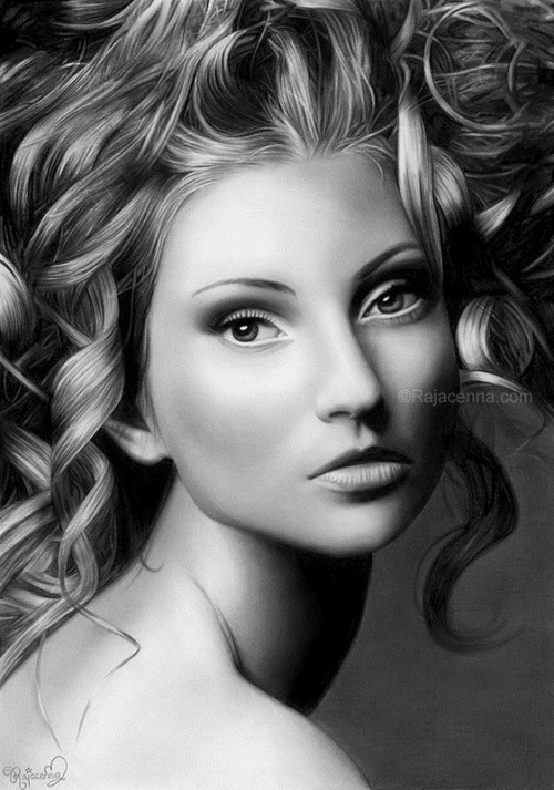 Hyperrealistic pencil drawing by Rajacenna