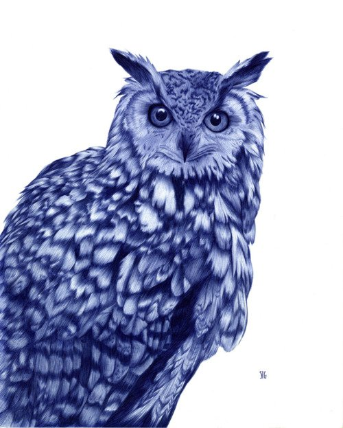Ballpoint Pen drawings by French artist Sarah Esteje
