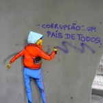 Colorful Street art by Brazilian artists Os Gemeos (Otavio and Gustavo Pandolfo)