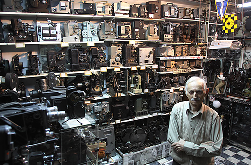 world's largest private collection of movie cameras