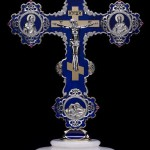 Cross, desktop suvenire. Beautiful jewelry art by Armenian artist-jeweler Vaagn Mkrtchyan