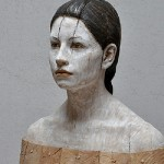 Julia, hyperrealistic wooden sculpture