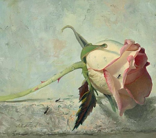 Rose Paintings by Alexei Antonov