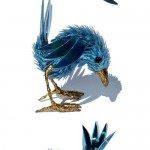 The process of creating bird sculpture out of CDs and electronics parts. Work by Australian artist Sean Avery
