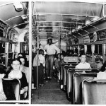Old photo, segregated bus