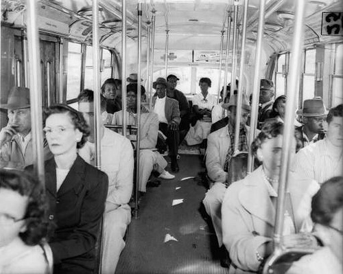 Traditional segregated bus