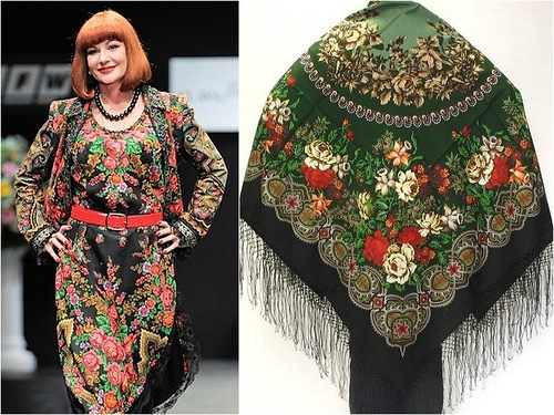 Gorgeous Russian style shawls