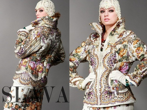 Based on traditional Russian motif fashion designs