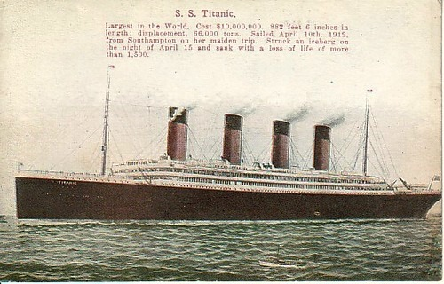 Largest in the world, Titanic, retro post card