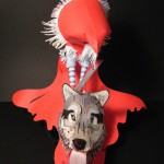 Back side – Little Red Riding Hood. Paper sculpture by British artist Sher Christopher
