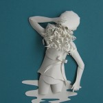 In the river. Paper sculpture by British artist Sher Christopher
