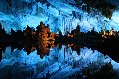 The Cave in Guilin, Guangxi, China got its name from the type of reed growing outside, which can be made into melodious flutes