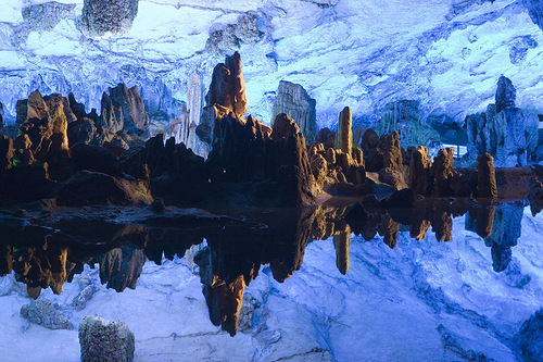 Tourist destination – The Reed Flute beautiful Cave in Guilin, Guangxi, China