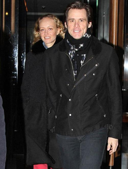 Anastasia Vitkina and Jim Carrey